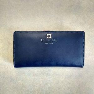 Kate Spade blue and red leather wallet